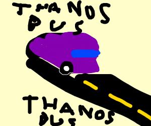thanos bus goes through tunnel