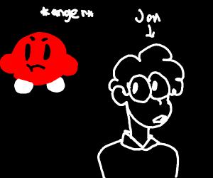 Kirby plots revenge on Jon from Garfield