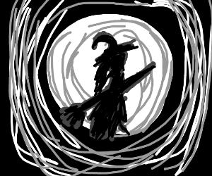 Witch on Halloween Night