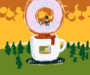 Donut County Giant Cup of Coffee