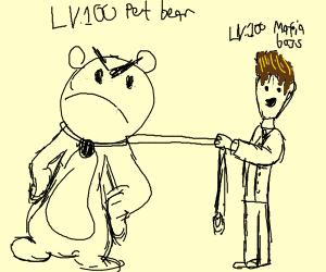 LV. 100 Pet Bear and LV. 100 Mafia Boss