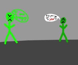 green man suffers ptsd from yam war (1917)