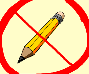 Pencils banned