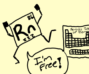 Rn from the periodic table is free.