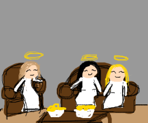 3 angels hanging out