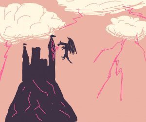 A distant castle