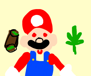 mario tries drugs for the first time