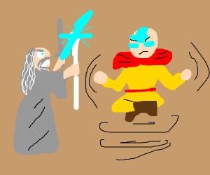 Gandalf attacks Avatar man