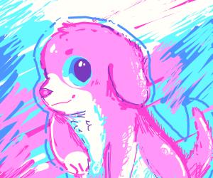 a pink puppy