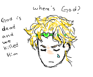 Dio Brando looking for God