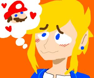 link loves mario