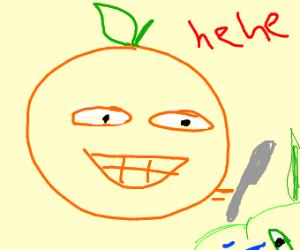 Orange murders his friends he don't need em