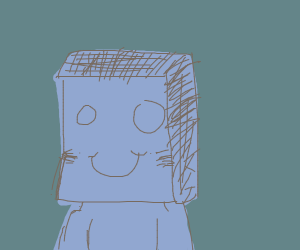 Guy with paper bag over head