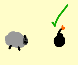 sheep agrees to something violent?