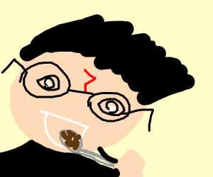 Harry Potter eats baked beans