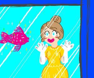 Princess loves sparkly fish