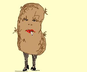smoking hot potato