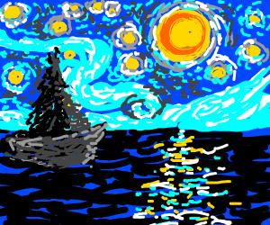 Starry ocean