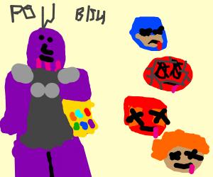 Thanoid kills the Revengers