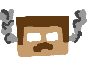 minecraft head smoking