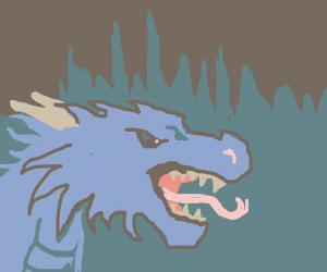 Roaring Dragon at night