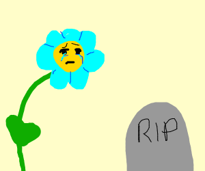 Flower cries over dead loved one