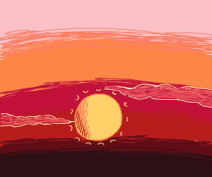 Lavishing Red Sunset