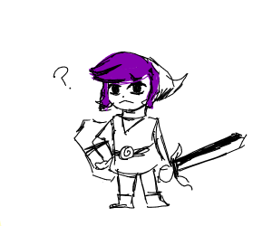 Tiny purple hair link