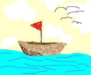 Powdery Sailboat