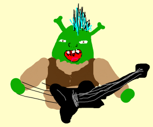 shrek in a rock band