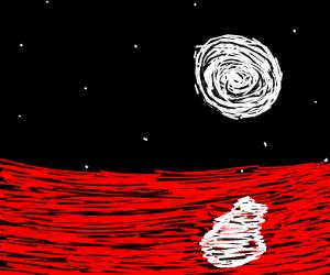 A sea of blood at the darkest night