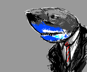 Dapper Shark boy is cool