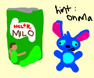 Giant Milo can near Stitch