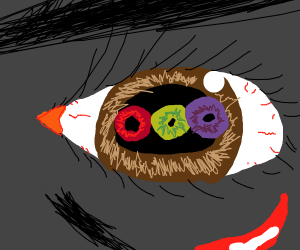 Eye with three more eyes in it