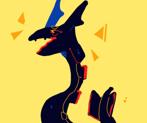 shiny raquaza (?) pixel sprite