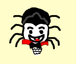 a vampire with spider body