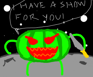 Happy watermelon has got a show for you