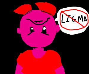 Female Kirby against ligma meme