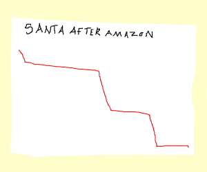 Santa hasn't been doing so hot after Amazon