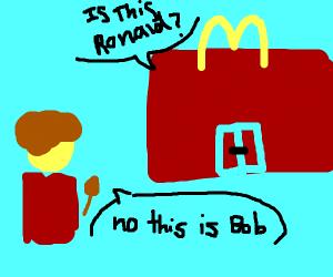 Bob ross at McDonald's