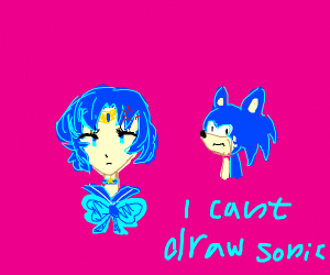 Sailor Mercury mad at her boss, Sonic