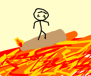 The flor is literal lava