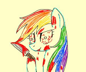 Rainbow Dash is evil