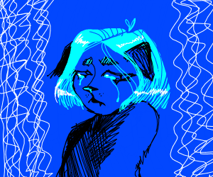 Sad furry lady is sad