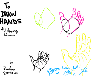 how to draw hands?