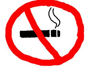 no cigarettes sign