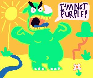 Green rhino is NOT purple
