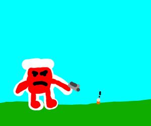 Koolaid Man seeks revenge on humans
