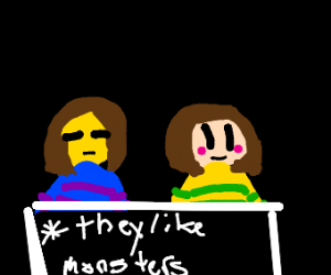 Chara and Frisk like monsters
