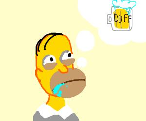 homer thinks of duff beer